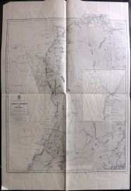 Admiralty Chart 1955 Map. Cape St Andrew to Bevato, Madagascar